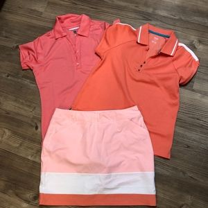 Golf outfit 2 tops and skorts